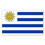 Uruguay Sticker (Rectangle 50 pk)