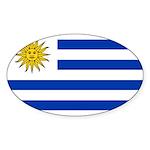 Uruguay Sticker (Oval 50 pk)