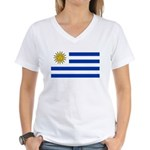 Uruguay Women's V-Neck T-Shirt