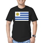 Uruguay Men's Fitted T-Shirt (dark)