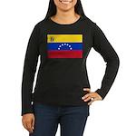 Venezuela Women's Long Sleeve Dark T-Shirt