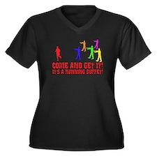 SD: Buffet Women's Plus Size V-Neck Dark T-Shirt