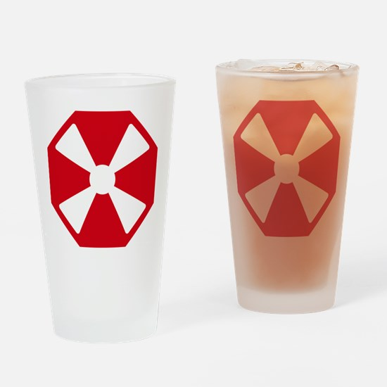 Eight Army Patch Drinking Glass