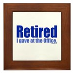 Retirement Framed Tile