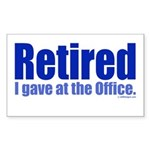 Retirement Rectangle Sticker