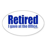 Retirement Oval Sticker