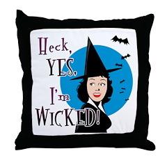 Flirty Wicked Witch Throw Pillow