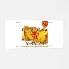 Scottish Tartan Army Footsold Aluminum License Pla