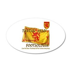 Scottish Tartan Army Footsold 22x14 Oval Wall Peel