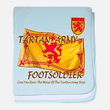 Scottish Tartan Army Footsold baby blanket