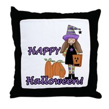 Lil Witch Throw Pillow
