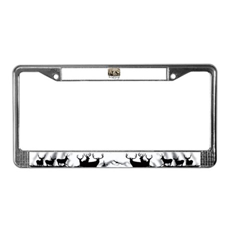 Elk rumble License Plate Frame