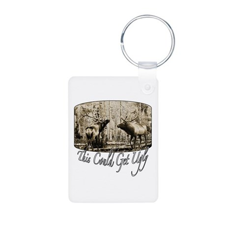 Elk rumble Aluminum Photo Keychain