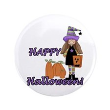 "Lil Witch 3.5"" Button"