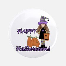 """Lil Witch 3.5"""" Button"""