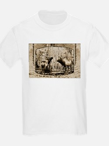 Bull elk face off T-Shirt