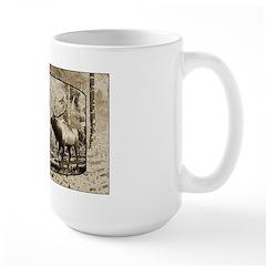 Bull elk face off Mug