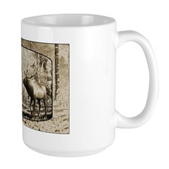 Bull elk face off Mug