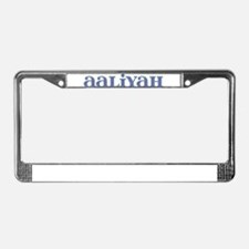Aaliyah Blue Glass License Plate Frame