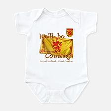 Scotland We'll be Coming Lion Infant Bodysuit