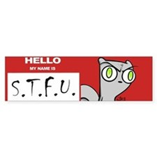 Foamy : STFU Sticker (Bumper)