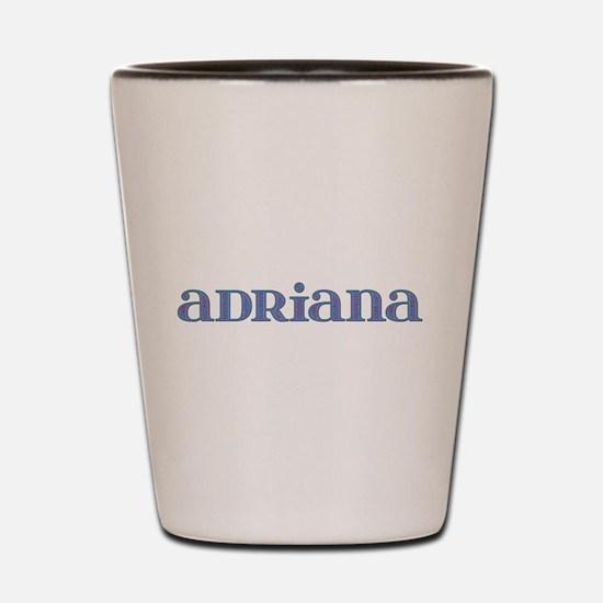 Adriana Blue Glass Shot Glass