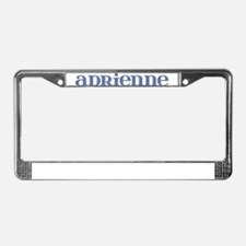 Adrienne Blue Glass License Plate Frame