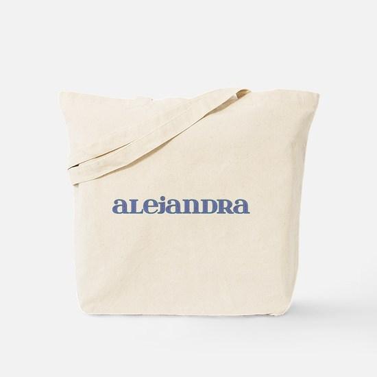Alejandra Blue Glass Tote Bag
