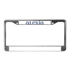 Alexia Blue Glass License Plate Frame