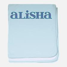 Alisha Blue Glass baby blanket