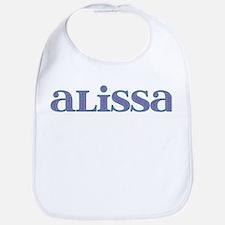 Alissa Blue Glass Bib
