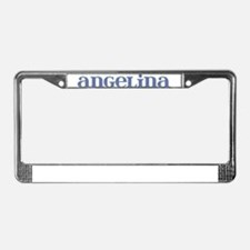 Angelina Blue Glass License Plate Frame