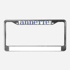 Annette Blue Glass License Plate Frame