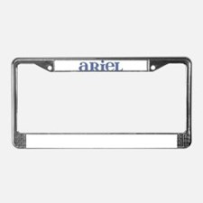 Ariel Blue Glass License Plate Frame