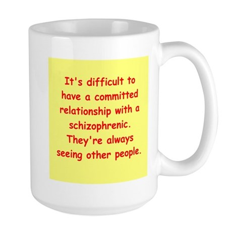 psychology joke Large Mug