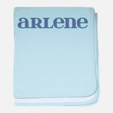 Arlene Blue Glass baby blanket