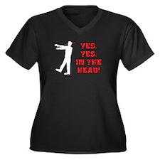 SD: Dart Women's Plus Size V-Neck Dark T-Shirt