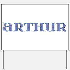 Arthur Blue Glass Yard Sign