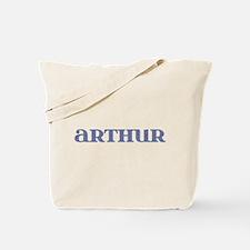 Arthur Blue Glass Tote Bag