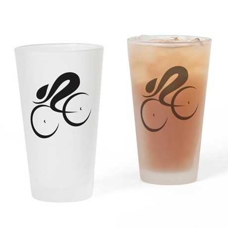 Speed Cycle Drinking Glass