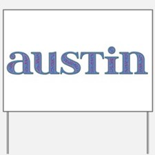 Austin Blue Glass Yard Sign