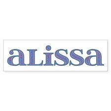 Alissa Carved Metal Bumper Bumper Sticker