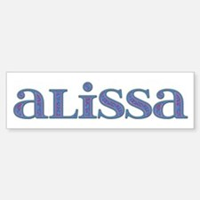 Alissa Carved Metal Bumper Car Car Sticker