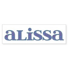 Alissa Carved Metal Bumper Car Sticker