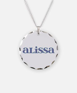 Alissa Carved Metal Necklace
