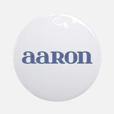 Aaron Carved Metal Round Ornament