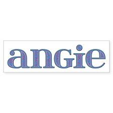Angie Carved Metal Bumper Bumper Sticker