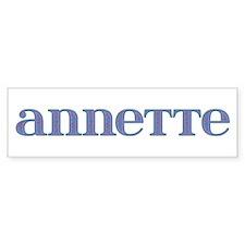 Annette Carved Metal Bumper Bumper Sticker