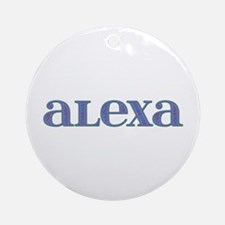 Alexa Carved Metal Round Ornament