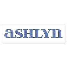 Ashlyn Carved Metal Bumper Bumper Sticker